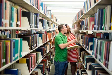 Students in Stacks at Shenango Library