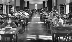 Students studying - 1950s