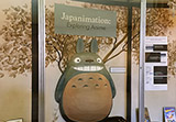 image of a three-dimensional representation of Totoro in a display case