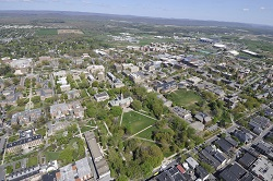 An arial view of Penn State University Park
